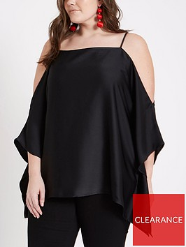 ri-plus-cold-shoulder-top-black