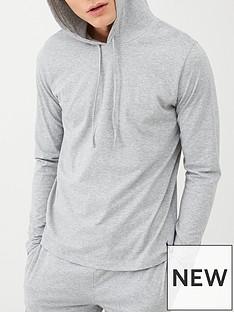 polo-ralph-lauren-hooded-lounge-top-grey-melange