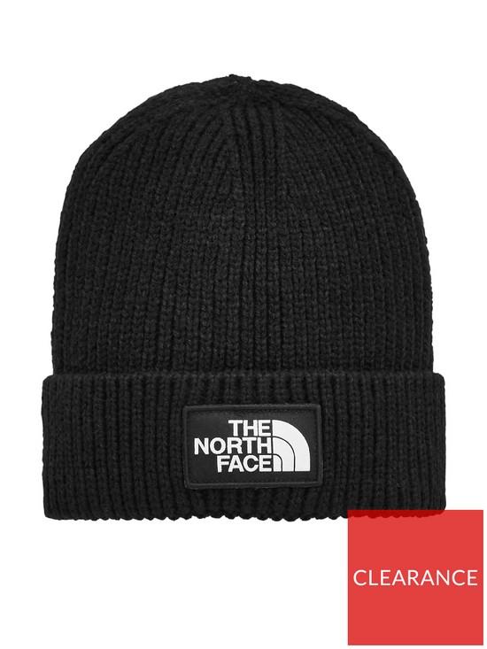 fe2e8cb92dd THE NORTH FACE Logo Box Cuffed Beanie - Black