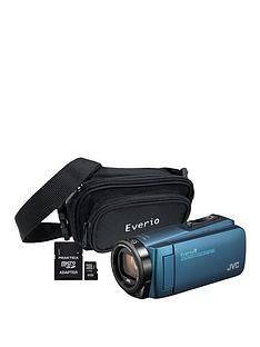 JVC GZ-R495 4Gb Memory Quad Proof HD Camcorder with 32Gb SD Card and Carry Case - Blue