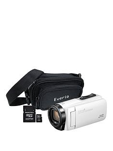 JVC GZ-R495 4Gb Quad Proof HD Camcorder with 32Gb SD Card and Carry Case - White