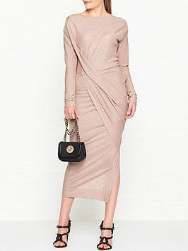 vivienne-westwood-anglomania-vian-glitter-jersey-drape-long-sleeve-dress-light-pink