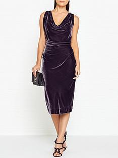 vivienne-westwood-anglomania-virginia-velvet-dress-dark-grey