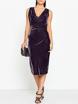 vivienne-westwood-anglomania-virginia-velvet-dress-dark-grey