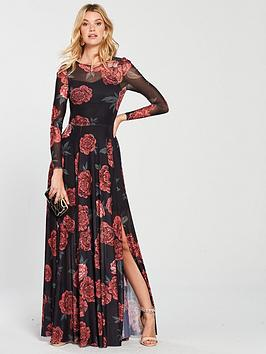 v-by-very-printed-mesh-maxi-dress-floral-print