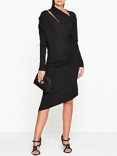 vivienne-westwood-anglomania-jersey-timans-long-sleeve-dress-black