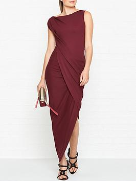 vivienne-westwood-anglomania-vian-jersey-drape-dressnbsp--red