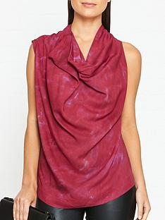 vivienne-westwood-anglomania-duo-cowl-neck-blouse-red