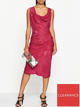 vivienne-westwood-anglomania-virginia-cowl-neck-dress-red