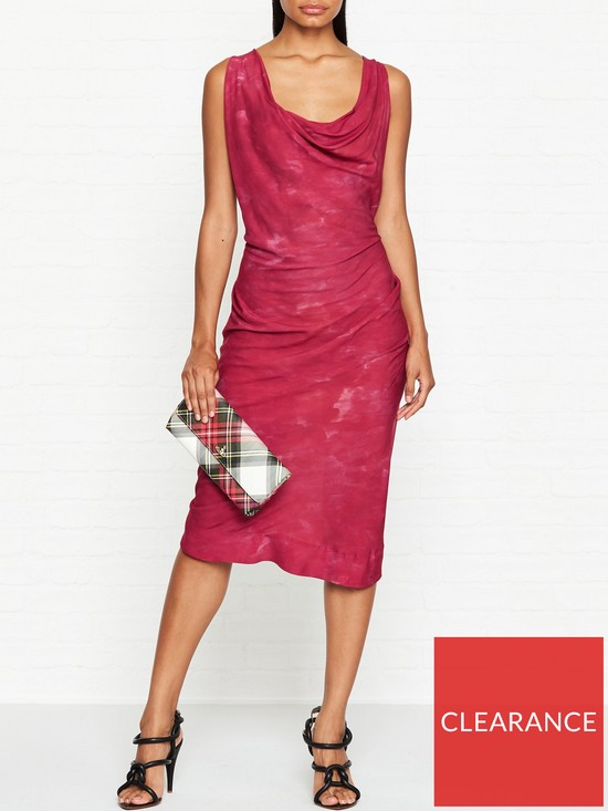 b6e9f3280ec8 VIVIENNE WESTWOOD ANGLOMANIA Virginia Cowl Neck Dress - Red | very.co.uk