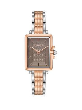 ted-baker-ted-baker-tess-grey-and-rose-gold-square-dial-with-bow-detail-bezel-and-two-tone-stainless-steel-bracelet-ladies-watch