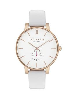 ted-baker-olivia-white-and-rose-gold-dial-white-leather-strap-ladies-watch