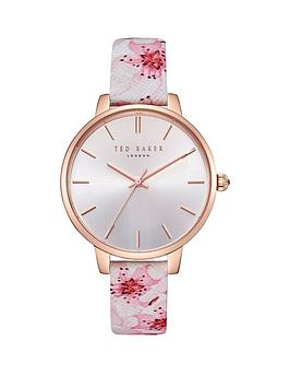 ted-baker-kate-rose-gold-case-peach-blossom-floral-print-leather-strap-ladies-watch
