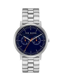 ted-baker-ted-baker-brit-blue-and-orange-detail-multi-dial-stainless-steel-bracelet-mens-watch