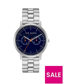 ted-baker-ted-baker-brit-blue-and-orange-detail-multi-dial-stainless-steel-bracelet-mens-watch