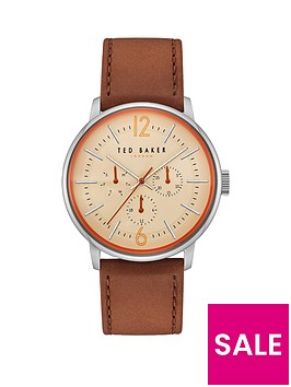 ted-baker-ted-baker-jason-multi-dial-with-orange-detail-and-brown-leather-strap-mens-watch
