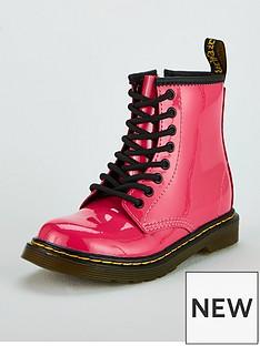 Dr Martens Girls Junior 1460 Patent Boot - Pink 54ec08241