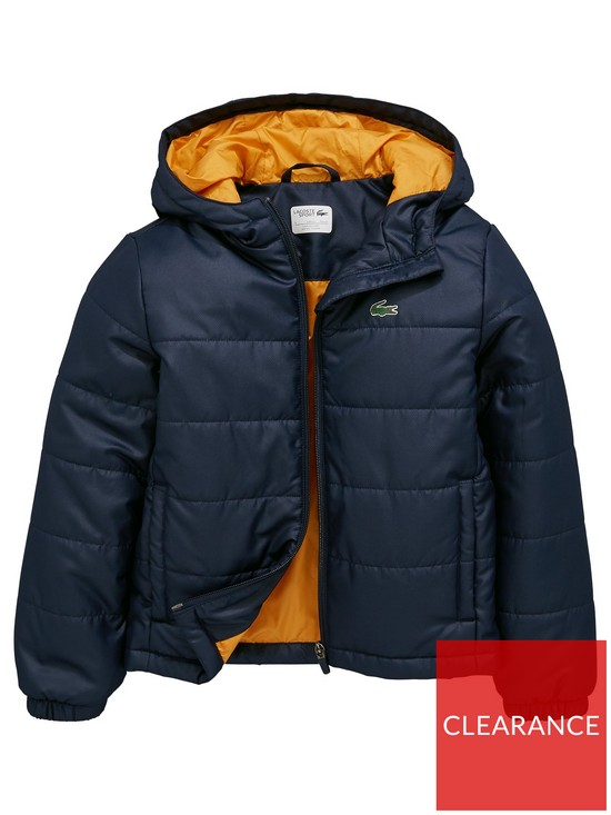 0f9e31eec Lacoste Sports Boys Hooded Padded Jacket