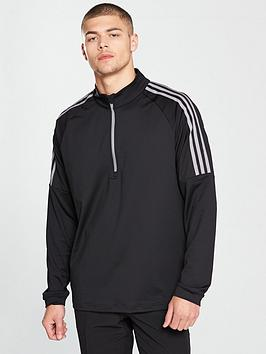 adidas-golf-3-stripes-frac14-zip-top