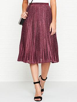 whistles-sparkle-pleated-skirt-pink