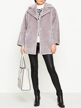 whistles-faux-fur-cocoon-coat-lilac