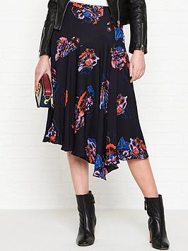 whistles-freya-floral-print-asymmetric-skirt-black