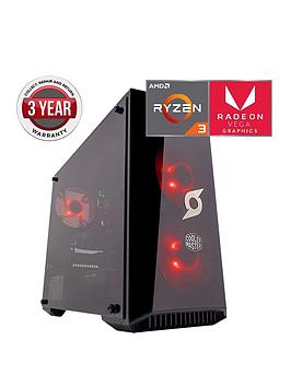 zoostorm-stormforce-onyx-amd-ryzen-3-8gbnbspramnbsp1tbnbsphard-drive-gaming-pc-withnbspamd-vega-graphics
