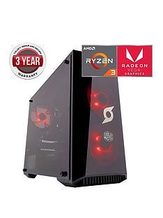 Zoostorm Stormforce Onyx AMD Ryzen 3, 8GbRAM,1TbHard Drive, Gaming PC withAMD Vega Graphics