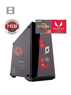 zoostorm-stormforce-onyx-amd-ryzen-3-processor-8gbnbspramnbsp1tbnbsphard-drive-gaming-pc-withnbspamd-vega-graphics