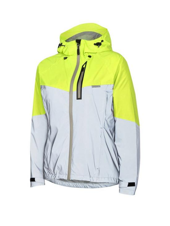 MADISON Stellar Reflective Women s Waterproof Cycle Jacket - Silver Hi-Viz  Yellow 108db3c10