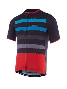 madison-peloton-mens-short-sleevenbspcycle-jersey-black-chilli-red-torn-stripes