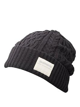 shimano-shimano-hat-knit-watch-black-regular-size
