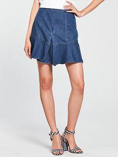 v-by-very-pleated-ruffle-denim-skirt--nbspindigo