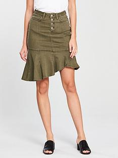 v-by-very-utility-ruffle-skirt-khaki