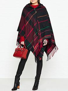 vivienne-westwood-anglomania-tartan-poncho-navyred-multicolour