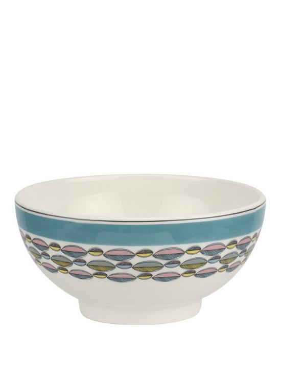 656172b8bfda Portmeirion Westerly Turquoise Set of 4 Cereal Bowls