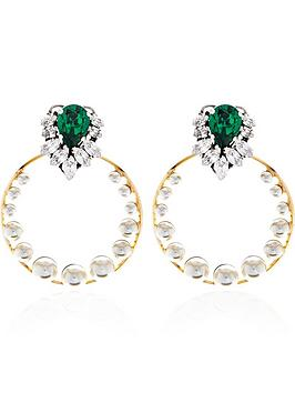 anton-heunis-gem-cluster-swarovski-pearl-detachable-hoop-earrings--nbspmulti