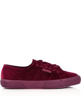 superga-2750-velvet-shiny-glitter-plimsolls-dark-red