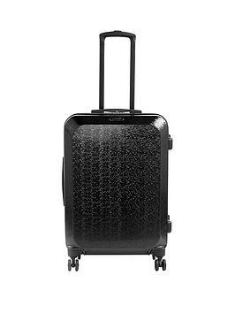Constellation Mosaic Large 4 Wheel Suitcase - Black