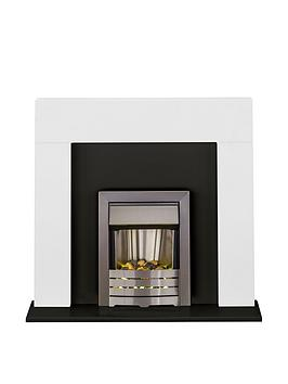 adam-fires-fireplaces-miami-fireplace-suite-in-white-and-black-with-helios-brushed-steel-electric-fire