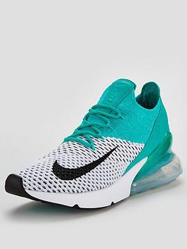 Nike Air Max 270 Flyknit - White/Green