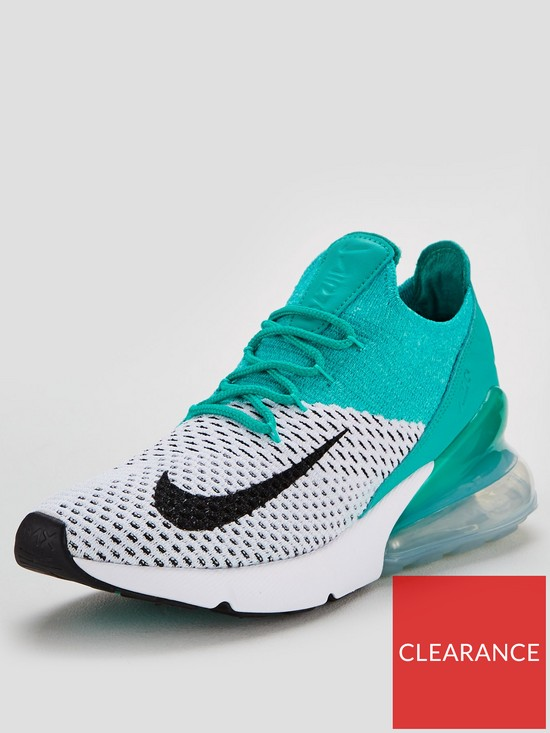 a5e79794ac7c99 Nike Air Max 270 Flyknit - White Green
