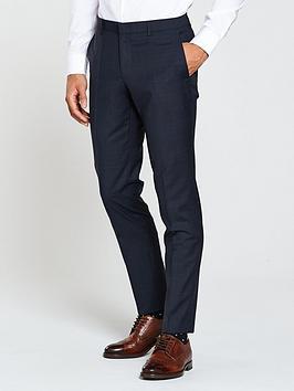 HUGO Hugo by Hugo Boss POW Slim Fit Suit Trouser, Navy, Size 46 = Uk 30, Inside Leg Regular, Men thumbnail