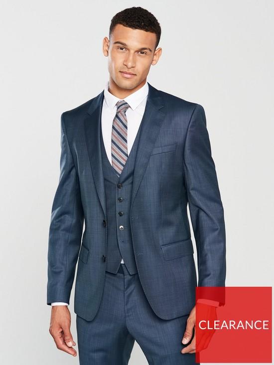 ed90dd4af HUGO Birdseye Slim Fit Suit Jacket   very.co.uk