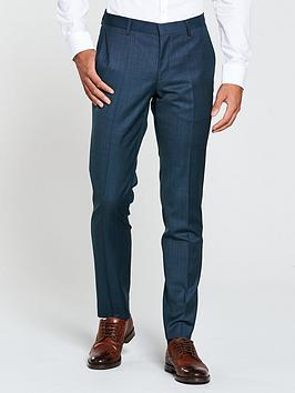 HUGO Hugo by Hugo Boss Birdseye Slim Fit Suit Trouser, Bright Blue, Size 46 = Uk 30, Inside Leg Regular, Men thumbnail