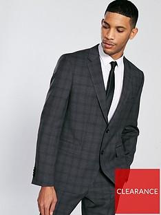 ba0935e7db HUGO Tonal Check Suit Jacket