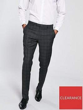 hugo-tonal-check-suit-trousers