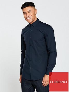 hugo-plain-long-sleeve-shirt-navynbsp