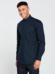 hugo-plain-longsleeve-shirt