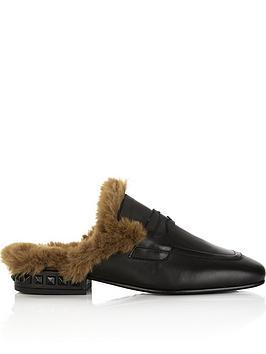 ash-emotion-eco-fur-slip-on-shoes-black
